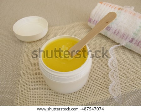 Ghee butter for skin care and as a massage oil
