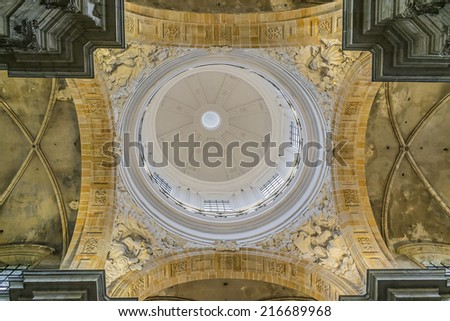 GHENT, BELGIUM - MAY 12, 2014: Interior of Our Lady of St. Peter's Church (O.L.V. - Sint-Pieterskerk, architect Pieter Huyssens, 1629) belongs to St. Peter's Abbey (Sint-Pietersabdij).