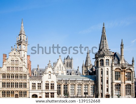 Ghent houses - stock photo