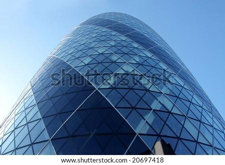 Gherkin. Modern buildings in London City - stock photo