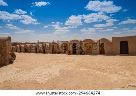 Ghorfa in Tunisia - stock photo