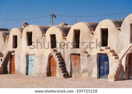 Ghorfas in Medenine/Tunesia - stock photo