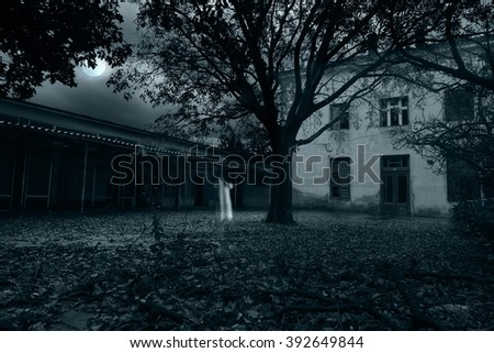 Ghost apparitions - stock photo