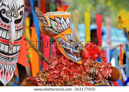 Ghost Festival (Phi Ta Khon) - stock photo