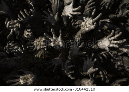 ghost hand,zombie. - stock photo