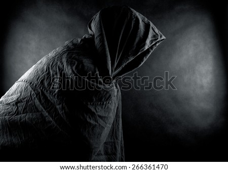 Ghost in the dark - stock photo