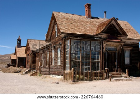 Ghost town Bodie - stock photo
