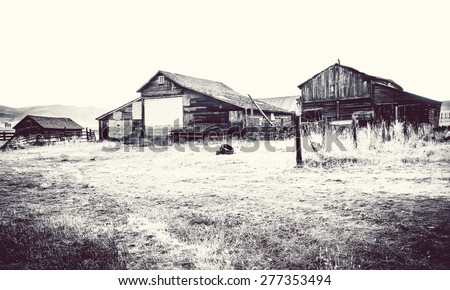 ghost town, Colorado, United States - stock photo