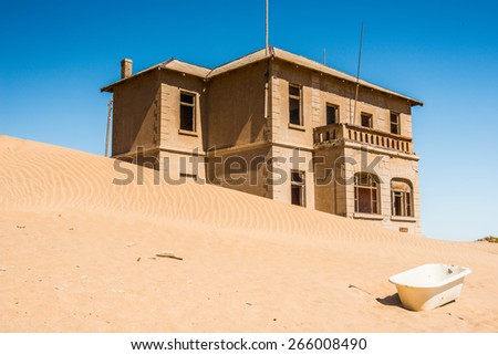 Ghost town  Kolmanskop, Namibia desert - stock photo