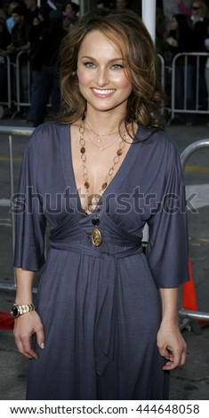 Giada De Laurentiis at the World premiere of 'The Break-Up' held at the Mann Village Theatre in Westwood,  USA on May 22, 2006. - stock photo