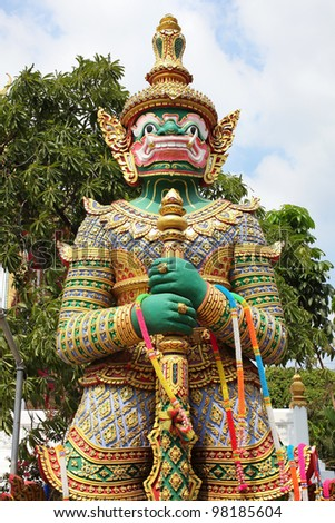 Giant at thailand temple