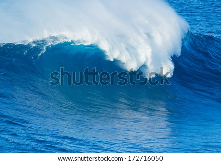 Giant Blue Ocean Wave - stock photo
