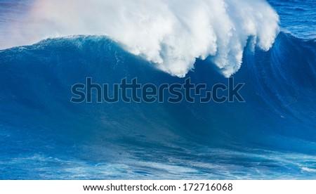 Giant Blue Ocean Wave - stock photo