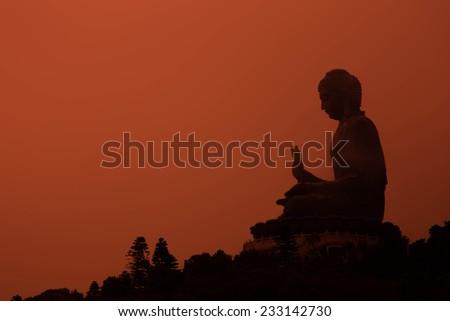 Giant Buddha. Po Lin Monastery, Hong Kong. - stock photo
