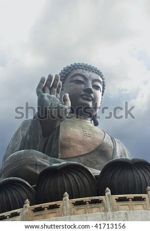 Giant Buddha Statue in Hong Kong - stock photo
