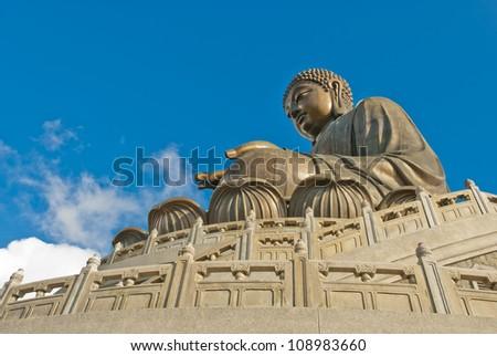 Giant Buddha Statue, Lantau Island - stock photo