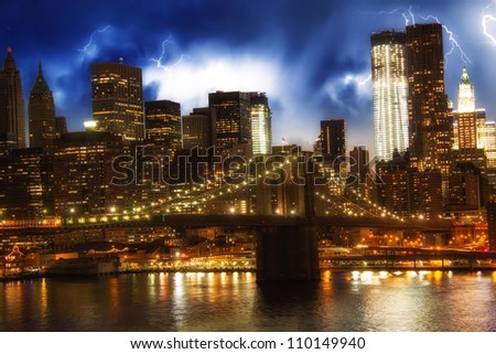 Giant Buildings of New York - Manhattan - USA - stock photo