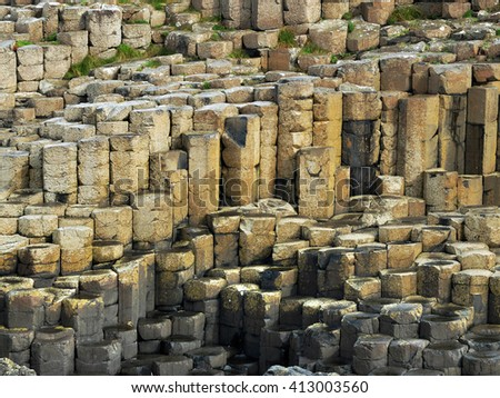 Giant Causeway, Ireland, rock formations detail
