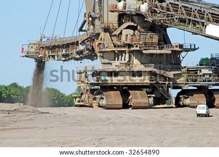 Giant Excavator - stock photo