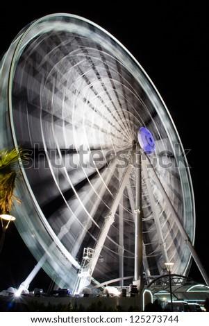 Giant Ferris wheel - stock photo