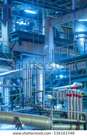 giant gas and oil pipelines - stock photo