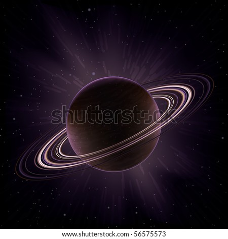 Giant gas planet surrounded by rings (like Saturn)