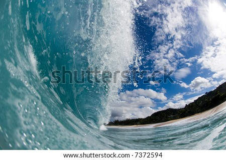 giant hollow wave - stock photo