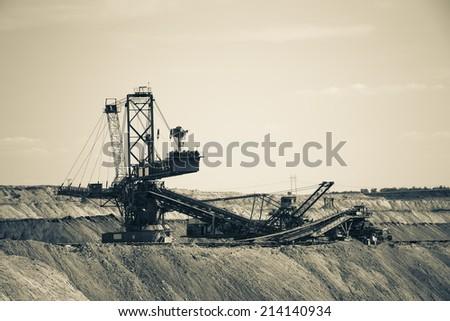 giant mining machine - stock photo