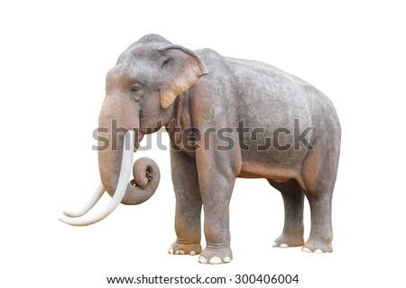 giant plastic elephant isolated on white background. - stock photo