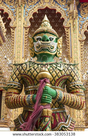 giant statue in thai temple.
