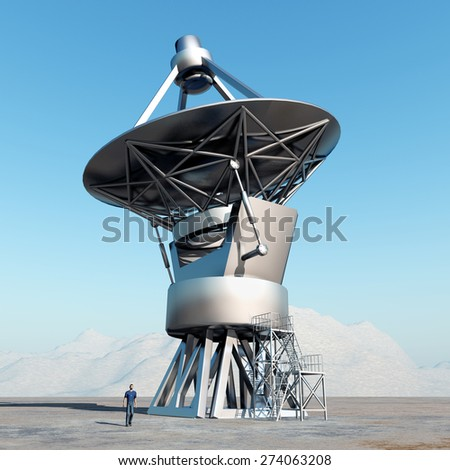 Giant telescope Computer generated 3D illustration