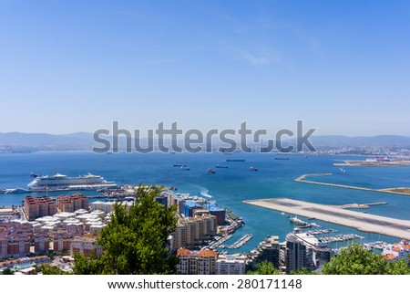 Gibraltar City - stock photo
