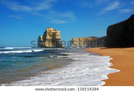 Gibson Steps, Great Ocean Road, Australia. - stock photo