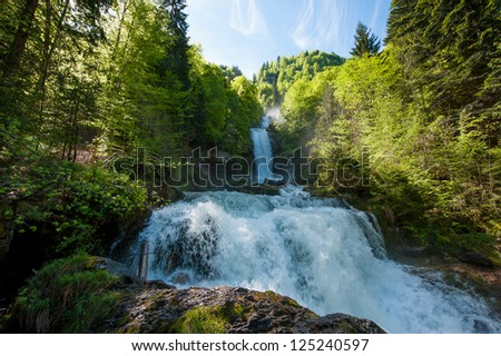 Giessbach waterfalls, Brienz, Switzerland