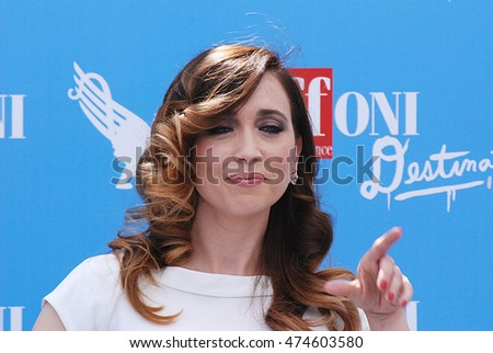 Giffoni Valle Piana, Sa, Italy - July 21, 2016: actress Chiara Francini at Giffoni Film Festival 2016 - on July 21, 2016 in Giffoni Valle Piana, Italy