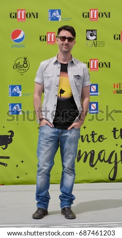 Giffoni Valle Piana, Sa, Italy - July 16, 2017 : Fabio Guaglione at Giffoni Film Festival 2017 - on July 16, 2017 in Giffoni Valle Piana, Italy