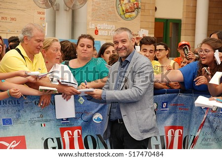 Giffoni Valle Piana, Sa, Italy - July 23, 2015 : Fortunato Cerlino at Giffoni Film Festival 2015 - on July 23, 2015 in Giffoni Valle Piana, Italy