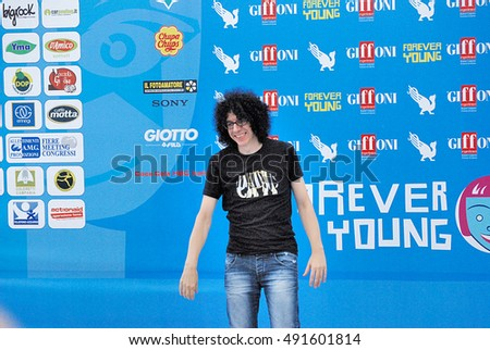 Giffoni Valle Piana, Sa, Italy - July 22, 2013 : Giovanni Allevi at Giffoni Film Festival 2013 - on July 22, 2013 in Giffoni Valle Piana, Italy