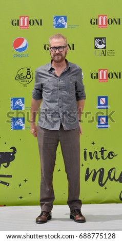 Giffoni Valle Piana, Sa, Italy - July 17, 2017 : Marco Giallini at Giffoni Film Festival 2017 - on July 17, 2017 in Giffoni Valle Piana, Italy