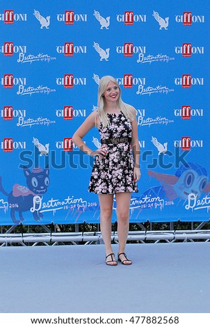 Giffoni Valle Piana, Sa, Italy - July 23, 2016: Martina Rodini at Giffoni Film Festival 2016 - on July 23, 2016 in Giffoni Valle Piana, Italy