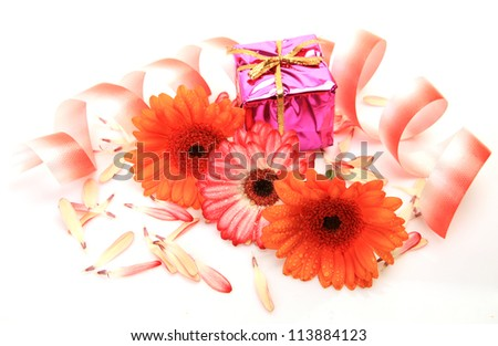 Gift and flower