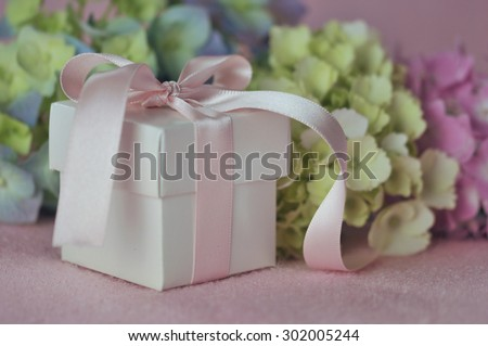 Gift and Hydrangeas