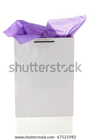 Gift bag. Isolated - stock photo