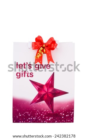 gift bags isolated on white background