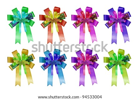 gift bow isolated on white