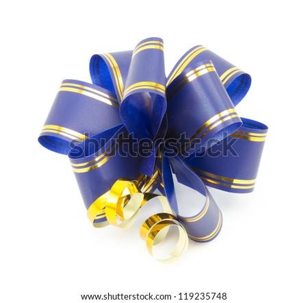 gift bow isolated on white background - stock photo