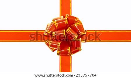 Gift bow isolated on white background. - stock photo