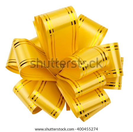 gift bow out of ribbon - stock photo