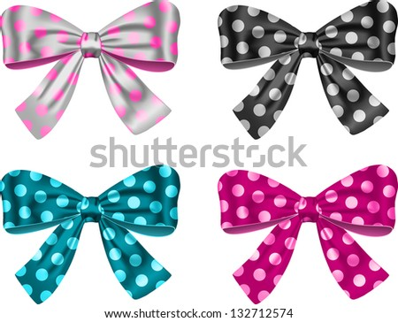 Gift bows for festive decorations