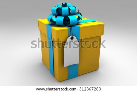 Gift box  3d illustration
